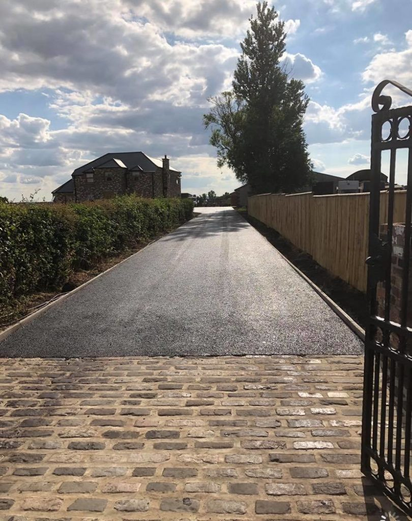 Tarmacadam Driveway in Yorkshire layed by County Durham tarmac and resin driveways specialist surfacing contractor Armstrong's of Darlington