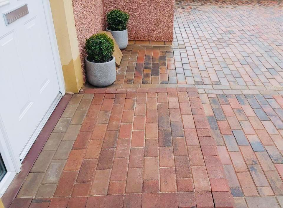 Armstrong's Block Pavers used for a residential driveway in Edinburgh Scotland